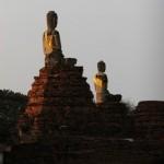 Ayuthaya - Buddhas im Abendlicht
