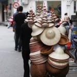 Hanoi - Korbwarenverkauf mobil