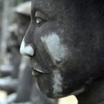 Hue - Das Khai Dinh Grab - Steingesicht