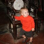 Hoi An - Felix hat den Stuhl lieb gewonnen