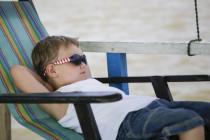 Felix relaxed
