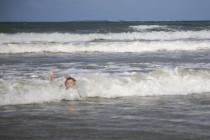 Felix in den Wellen