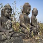 Verwitterte Buddhas