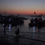 Fischerboote ausladen